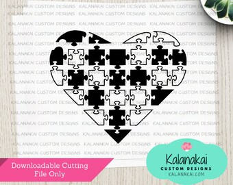 Autism SVG, Autism Awareness, Autism Puzzle Heart, Primary Colors, Autism Puzzle, Autism Heart, Autism Shirt SVG, Cricut
