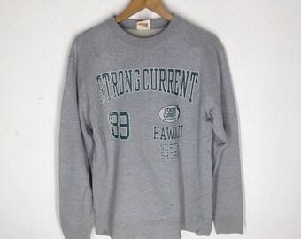 Vintage JAPANESE BRAND  Strong Curent Sweatshirts Size L