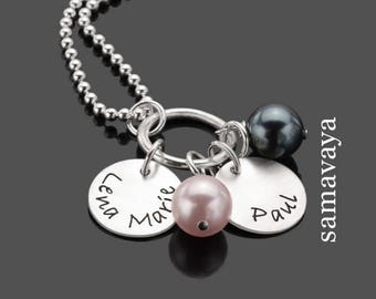 Silver jewelry combines 2.0 name necklace 925 Silver necklace with engraving partners jewelry