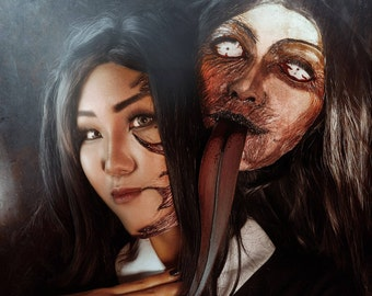 Halloween creepy mask second Tomie head for cosplay