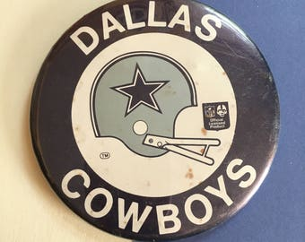 Dallas Cowboys badge - vintage retro 1970s 1980s pinback button - American football - NFL