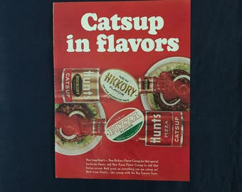 Vintage Hunt's Catsup in Flavors Ad