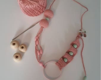 Pink Lactation or nursing necklace