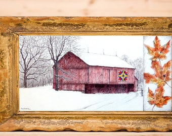 D1012 - Red Barn, Pleasant Valley Road