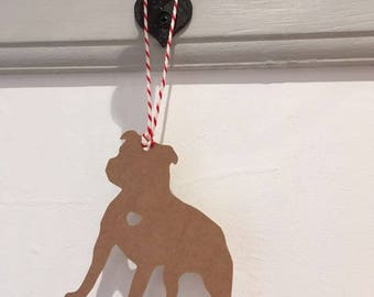 Staffie / Staffordshire Bull Terrier Gift Tag/Christmas - PACK OF FIVE