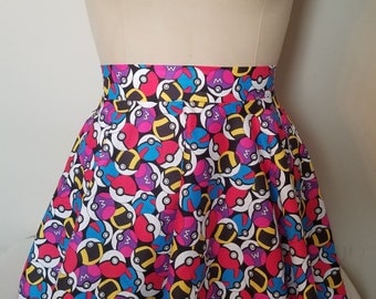 Pokemon Circle Skirt - Available in any size: petite to plus size