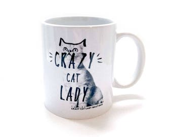 Cat Mug, Crazy Cat Lady Mug with Gift Box, Cat Lover Gift, Crazy Cat Lady, CCL Boutique, Cat, Mug, Brighton, Gift Box