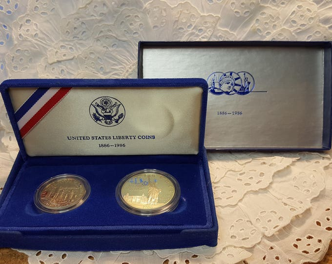 United States Liberty Coins 1886-1986 Set Boxed Gift Collectible Ellis Island S San Francisco