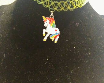 Handmade Unicorn Tattoo Choker