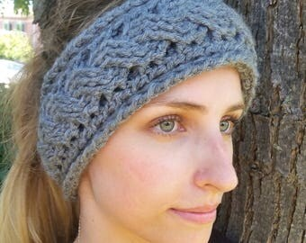 Double cable pattern headband