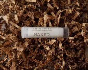 Naked Lip Balm - Unscented - Lip Care- Lip Moisturizer - Dry Lips - Chapped Lips - Natural