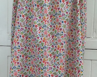 Pretty 1960s ' Libertyesque ' Floral and Butterfly Print Cotton Lawn Smock Dress. Freesize UK 10-14 Vintage 60's Sixties