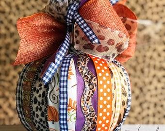 Pumpkin | Decorative Pumpkin | Halloween |Pumpkin Decor | Fall Home Decor | Pumpkin Bow |Housewarming Gift | Thanksgiving