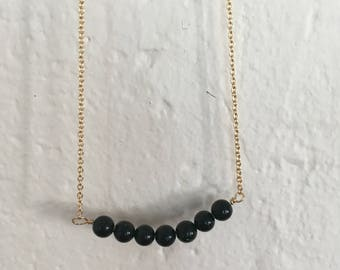 Green Goldstone Line necklace