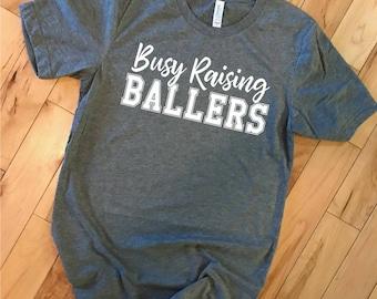 Busy Raising Ballers Tee