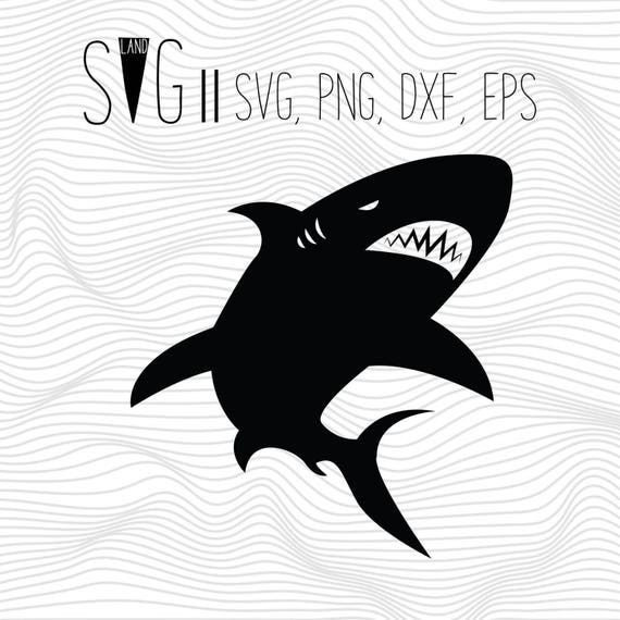 Jaw Svg Files Shark Fish Svg Animal Silhouette Svg For