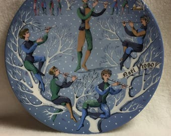 Haviland Limoges Twelve Days of Christmas - Eleven Pipers Piping (#119)