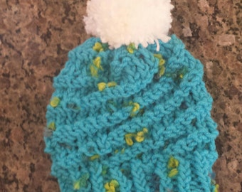 Knitted swirl hat for baby