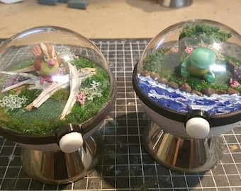Pokeglobe Custom 80mm - Pokemon Terrarium
