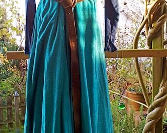 Medieval dress, Surcot, overdress, elves, fantasy, Larp, silk