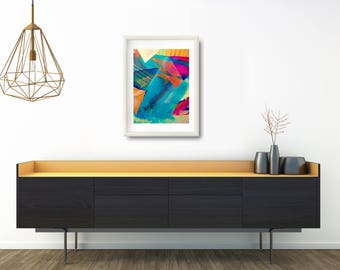 Abstract Painting Print Gift, Large Painting Art Print Gift, Modern Living Room Wall Decor Gift, Wife Gift Ideas Christmas, Wall Arranging