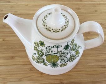 "Figgjo Norway ""Market"" teapot Mid century modern Scandi design Vintage kitchen"