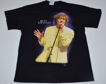 Vintage 1993 Rod Stewart t-shirt mens Large A Night to Remeber tour shirt Rock Band Tee 2 sided