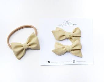 24 Carat | nylon baby headband, baby hair bows, baby headband, baby girl gift, baby bows, baby headband set, baby girl headbands, gold bow