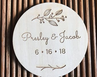 Berry Wedding Coaster Set