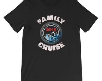 Family Cruise 2018 Vacation Beach Couples Matching Coordinating Summer Spring Winter Carnival Royal Caribbean Short-Sleeve Unisex T-Shirt