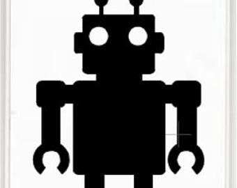 Robot Vinyl Sticker