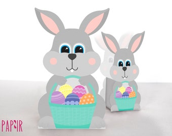 Easter Printable Bunny Favor Box   Easter decorations, Easter gift packaging, Easter candy box, Easter gift idea, candy box, treats box