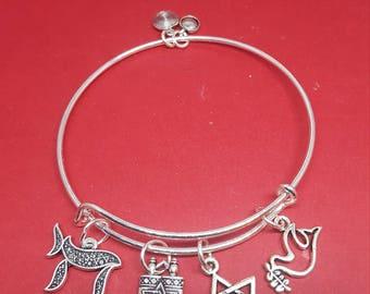 Jewish Themed Charm Bracelet