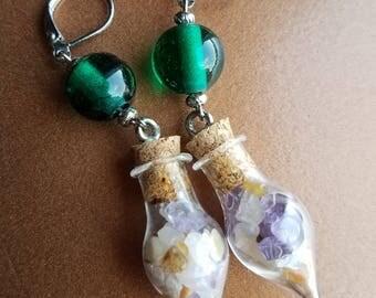Purple Potion Earrings 》》》