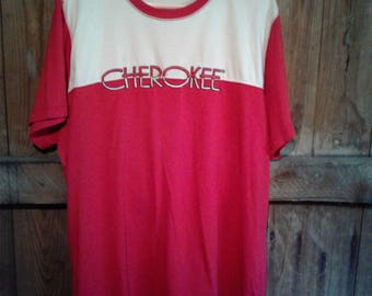 Vintage CHEROKEE Embroidered T shirt  size L