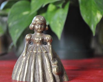 Brass Victorian Girl Bell