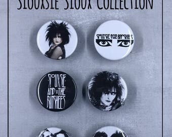 """Siouxsie & the Banshees 1.5"""" Button Set - Goth, Post Punk, New Wave"""