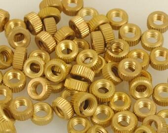 Brass Round Nuts 100 Pieces