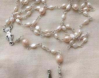 Freshwater Pearl Catholic Rosary