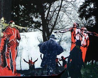 Sabbat, handcut collage