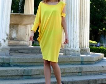Dress Yellow, Yellow Tunic dress, Tunic, Plus Size Tunic, Womens tunic, Summer Tunic, Tunic Tops, Loose Tunic, Women Tunics, Oversize Tunic