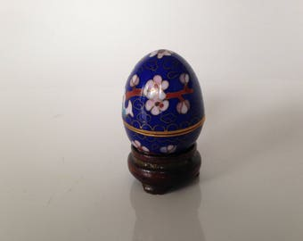 Box miniature egg - cloisonné - Asian art - China - Vintage