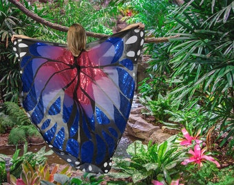 Butterfly Wing Sequin Cape