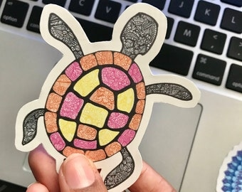 Turtle Zentangle - Sticker Design