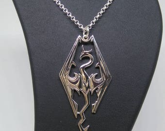 SKYRIM big  silver pendant 925