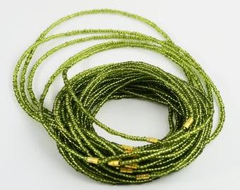 African Waist Beads, Waist Beads,Green African Waist Beads
