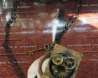 Steampunk Travel Journal necklace