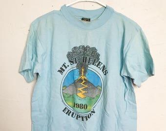 Vintage Mt. St. Helens eruption t-shirt, volcano 80's shirt