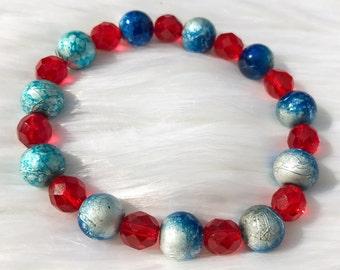Red and Blue Bracelet