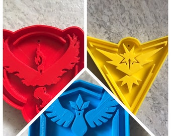 Pokemon Go Team Cookie Cutters - Set of 3